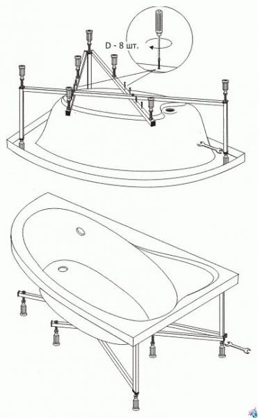 4 способа поднять ванну повыше в фото