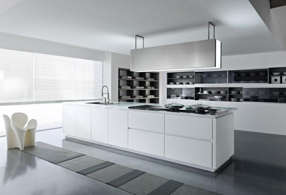 Белые кухни в фото