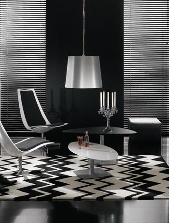 Черно-белые гостиные в фото