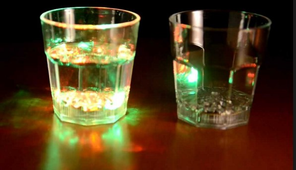 Делаем стакан с подсветкой в фото