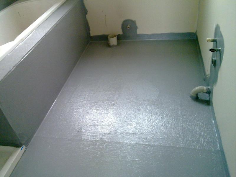 Гидроизоляция пола в ванной под плитку: материалы в фото
