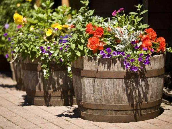 Как сделать уличные вазоны для цветов в фото