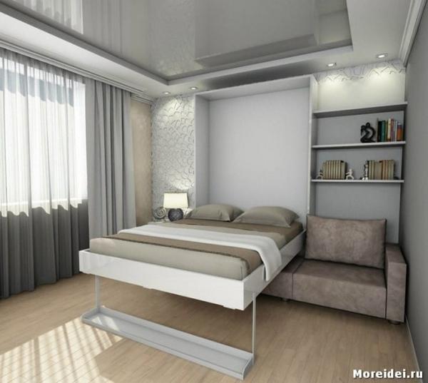 Как выбрать оптимальную модель кровати для маленькой спальни