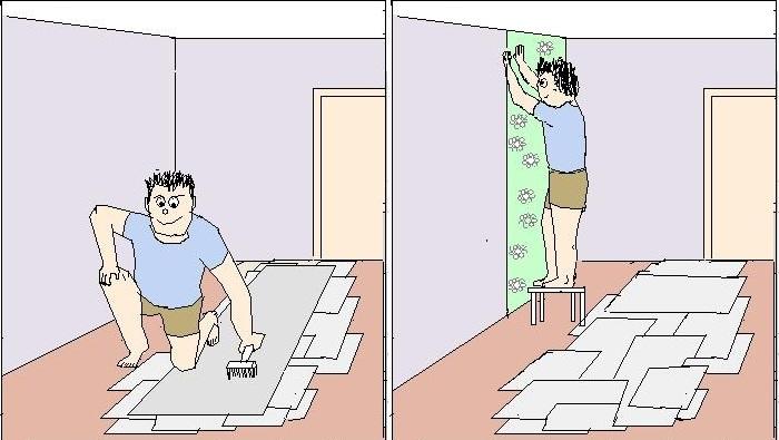 Каким клеем клеить бумажные обои в фото