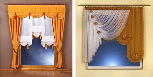 Короткие шторы в интерьере в фото
