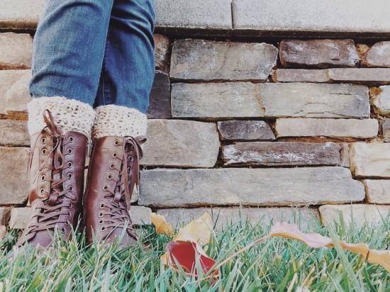 Манжеты крючком для сапог и ботинок в фото