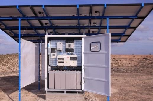 Модульная солнечная электростанция Panasonic в фото