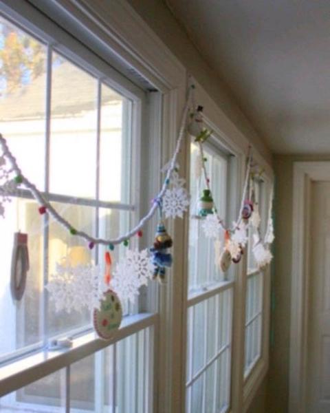 Новогодние гирлянды своими руками – несколько креативных идей в фото