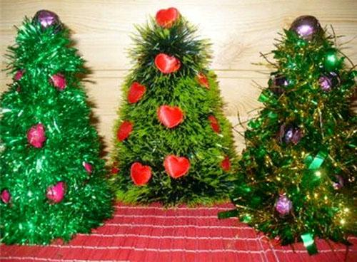 Новогодние ёлки своими руками в фото
