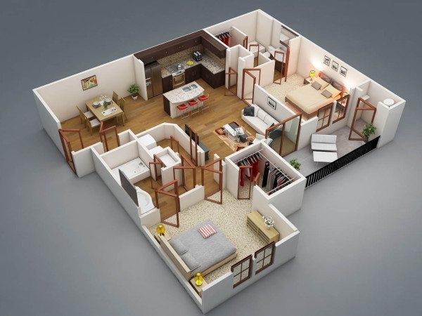 Планировка дома с 3 спальнями: анализ вариантов