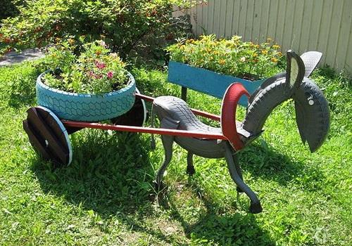 Поделки из шин для дачи. Украшаем сад и огород своими руками. Вы должны это увидеть