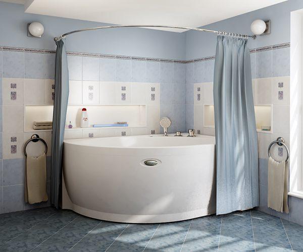 Практичные шторки для ванной в фото