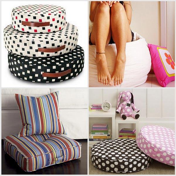Развалившись на полу — напольные подушки для комфорта в фото