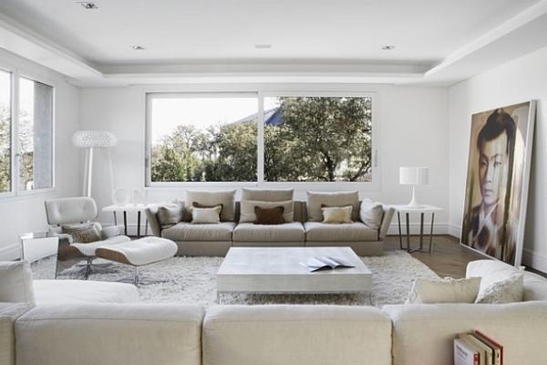 Стиль минимализм в интерьере гостиной: краткость — сестра таланта