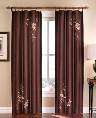Стильные шторы в гостиную в фото