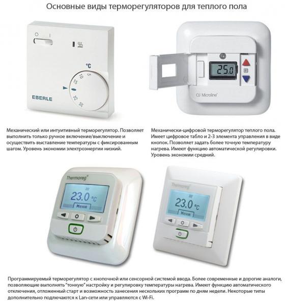 Терморегулятор для теплого пола: как и какой выбрать в фото