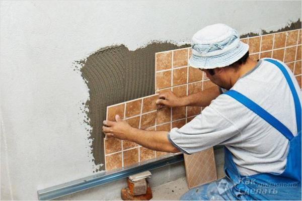 Укладка плитки своими руками