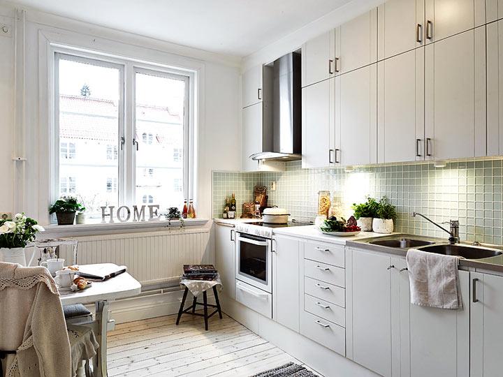 Вдохновляющий прованс в оформлении квартиры в Стокгольме в фото