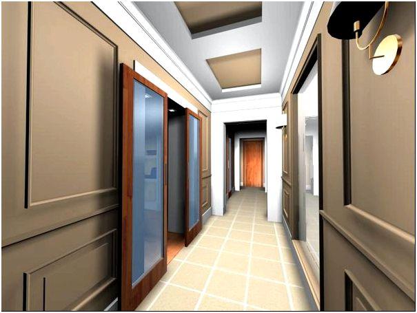 Фото — 20 Стены и пол в длинном коридоре