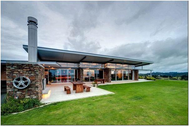 Дом среди холмов — ландшафтный проект Okura от Bossley, Новая Зеландия