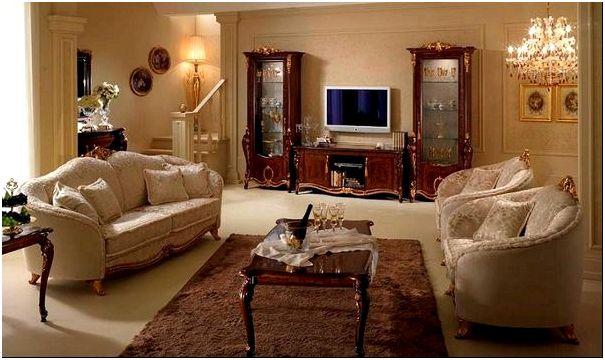 Фото 9 — Шторы для гостиной в классическом стиле