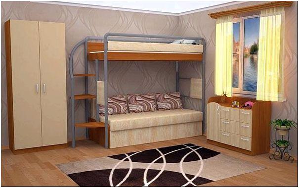 Фото — 31 Двухъярусная кровать для детей, которые любят читать перед сном