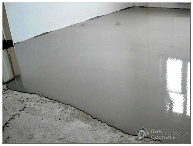 Выравнивание бетонного основания под ламинат