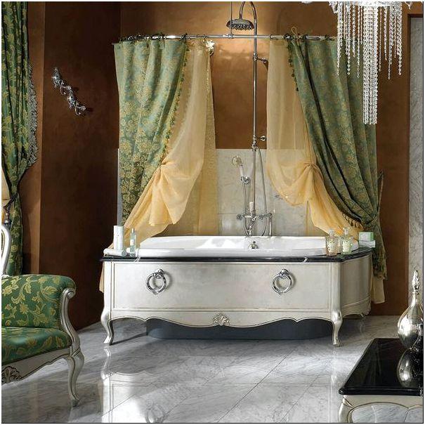 Фото — 20 Нестандартное решение штор в ванную