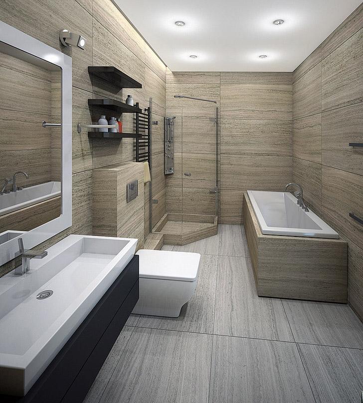 Дизайн ванной комнаты в стиле минимализма