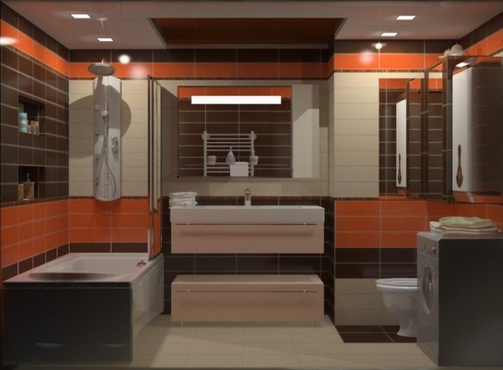 советы для правильной расстановки мебели в ванной совмещенной с туалетом