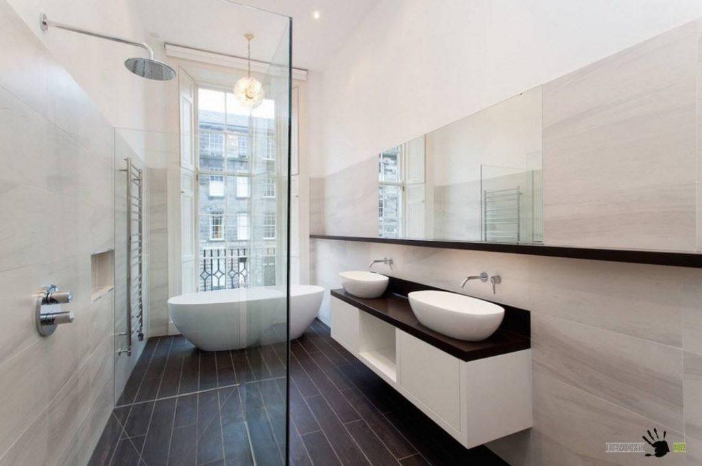 Вариант дизайна в ванной фото