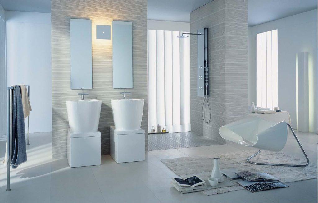 Современные идеи оформления светлой ванной комнаты