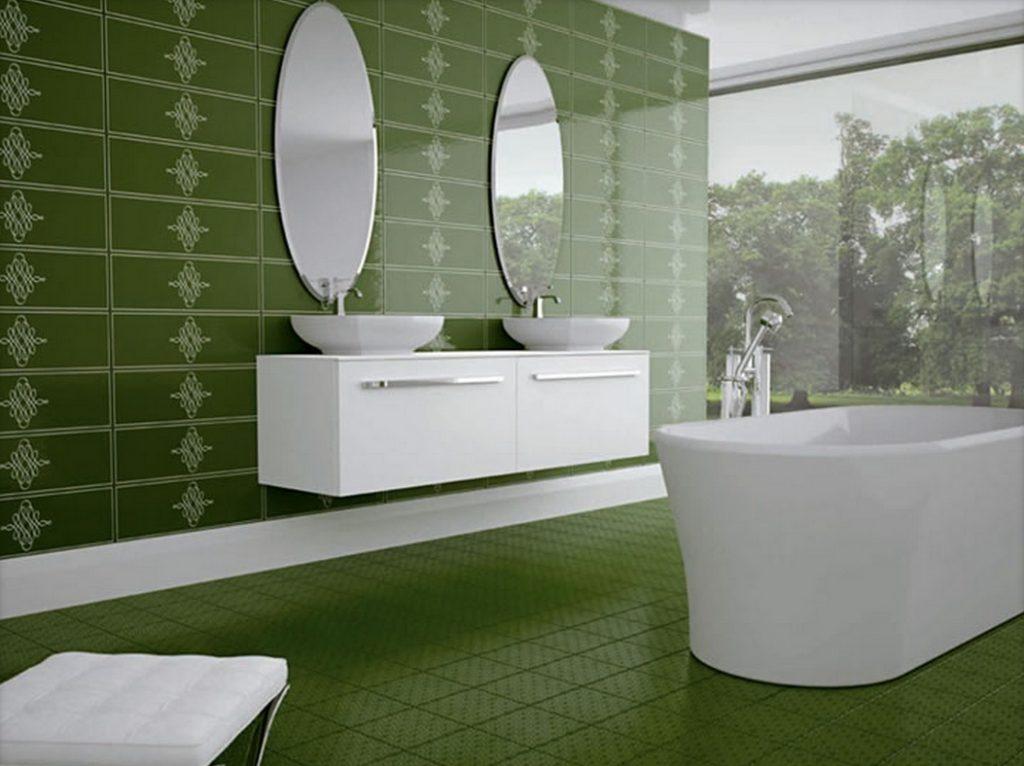 выбор дизайна с плиткой для ванной комнаты