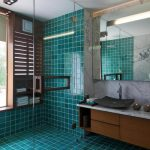 Blue-Tiles-In-Bathroom-For-Shower-Area