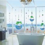 Crystal fish tank bead font b curtain b font Bathroom font b glass b font window