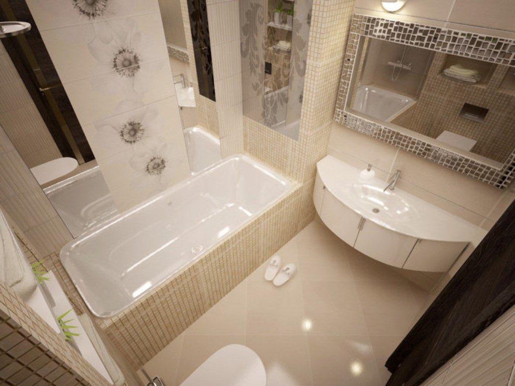 Фото дизайна ванной комнаты с модной плиткой