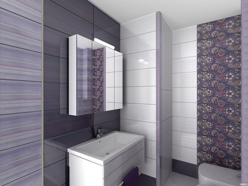 Дизайн отделки ванной комнаты темной плиткой как на фото с обложки