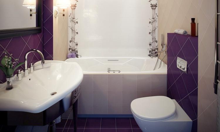 Фото дизайна модной и современной ванной комнаты