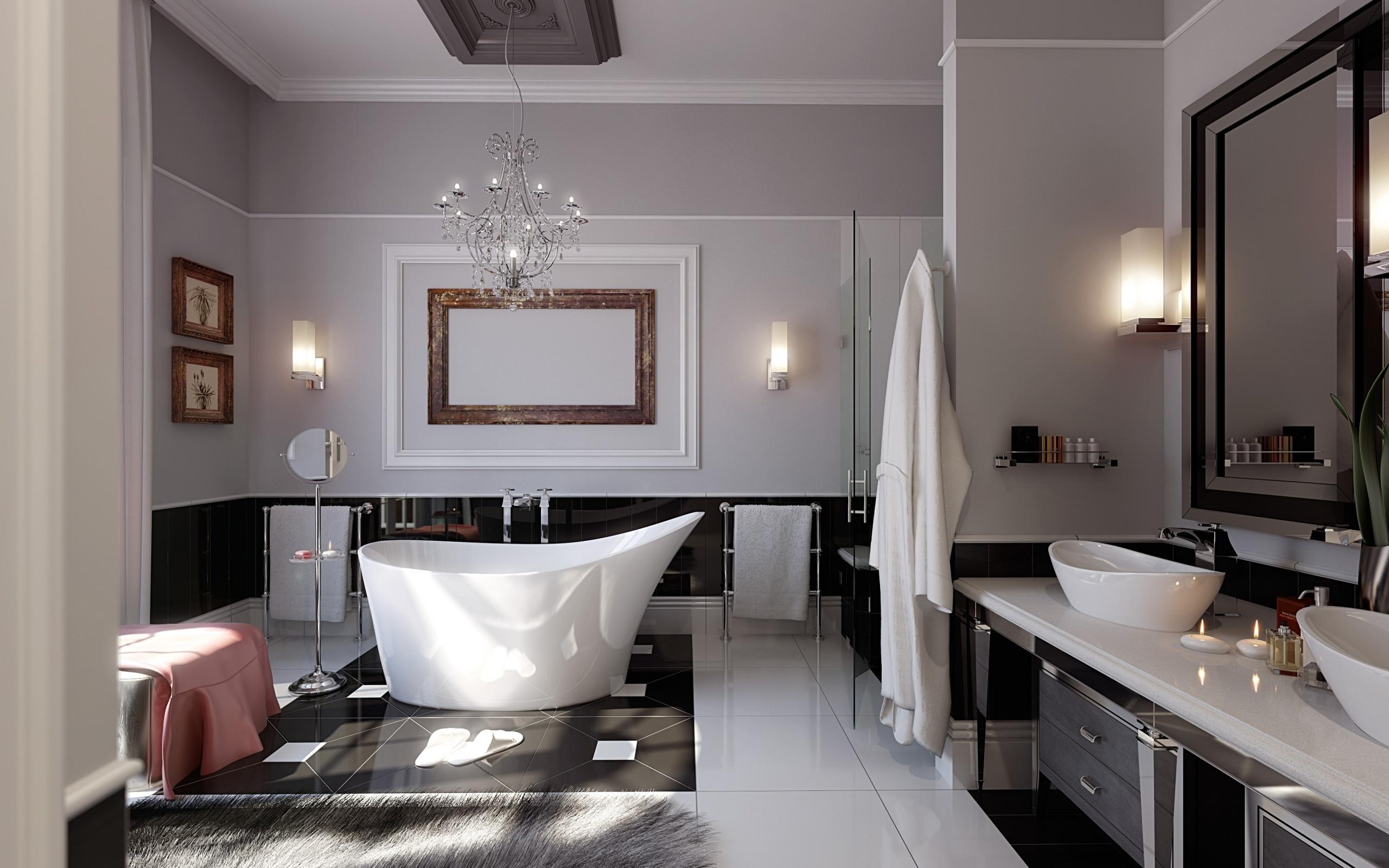 Фото дизайнерского решения для ванной комнаты