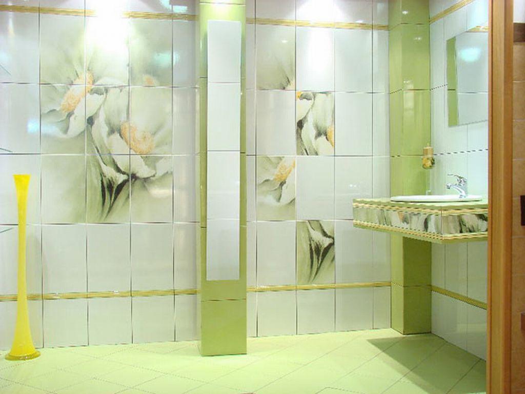 Фото кафельной плитки для отделки ванной комнаты в светлых тонах