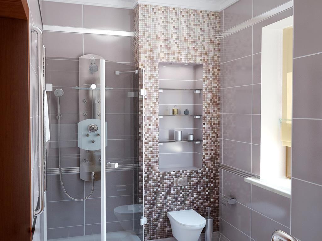 Фото модной плитки в стиле мозаики для ванной комнаты