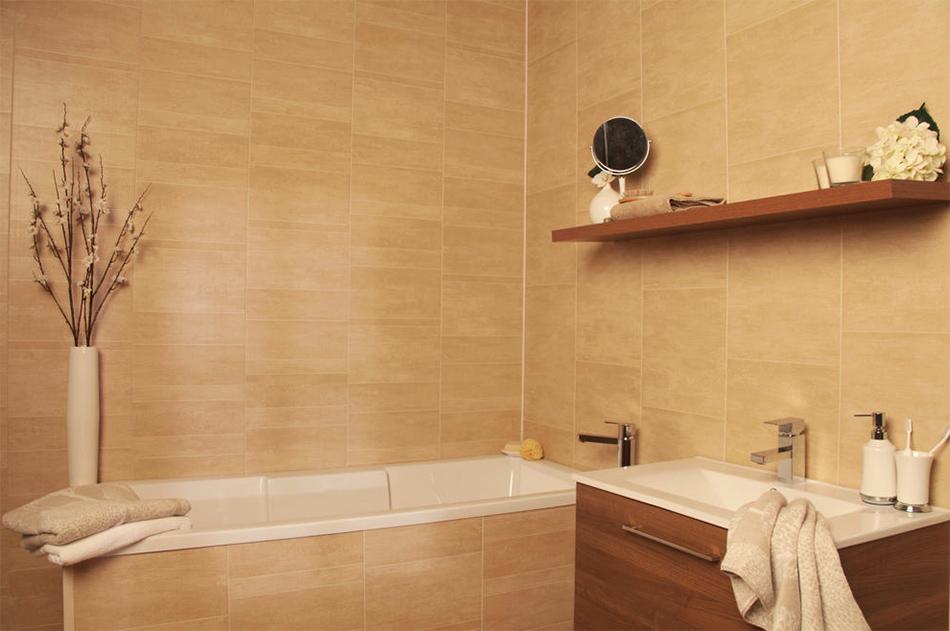 Фото оригинальный пластиковых панелей для декора ванной комнаты