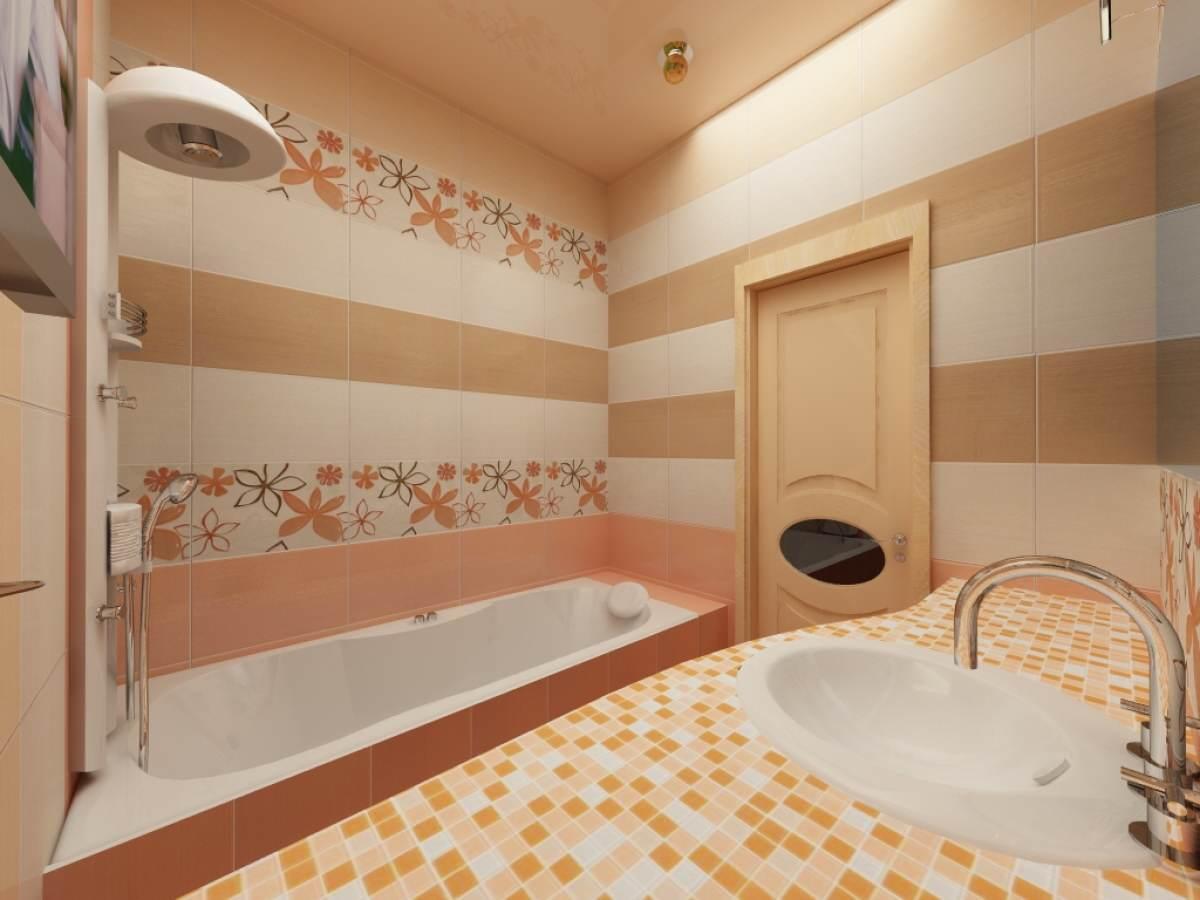 Ванная с мелкой плиткой фото дизайн