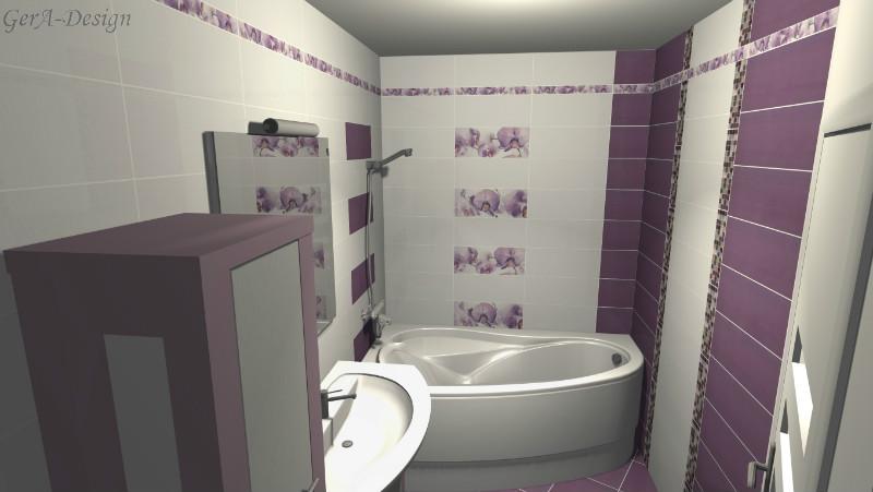 Фото дизайна современной яркой плитки для ванной комнаты