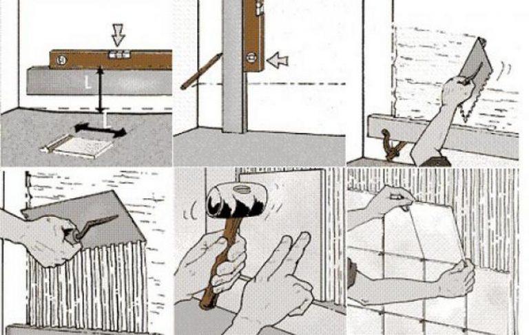Как положить плитку своими руками на стены