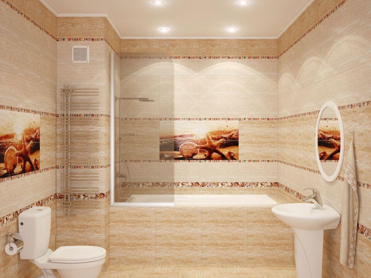 Кафельная плитка с картинами для декора ванной комнаты в стиле песка и пустыни