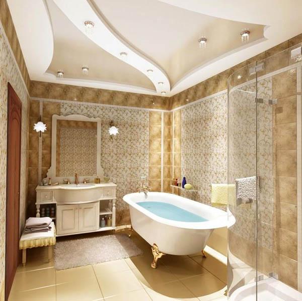 Как правильно выбрать многоуровневый потолок для ванной комнаты