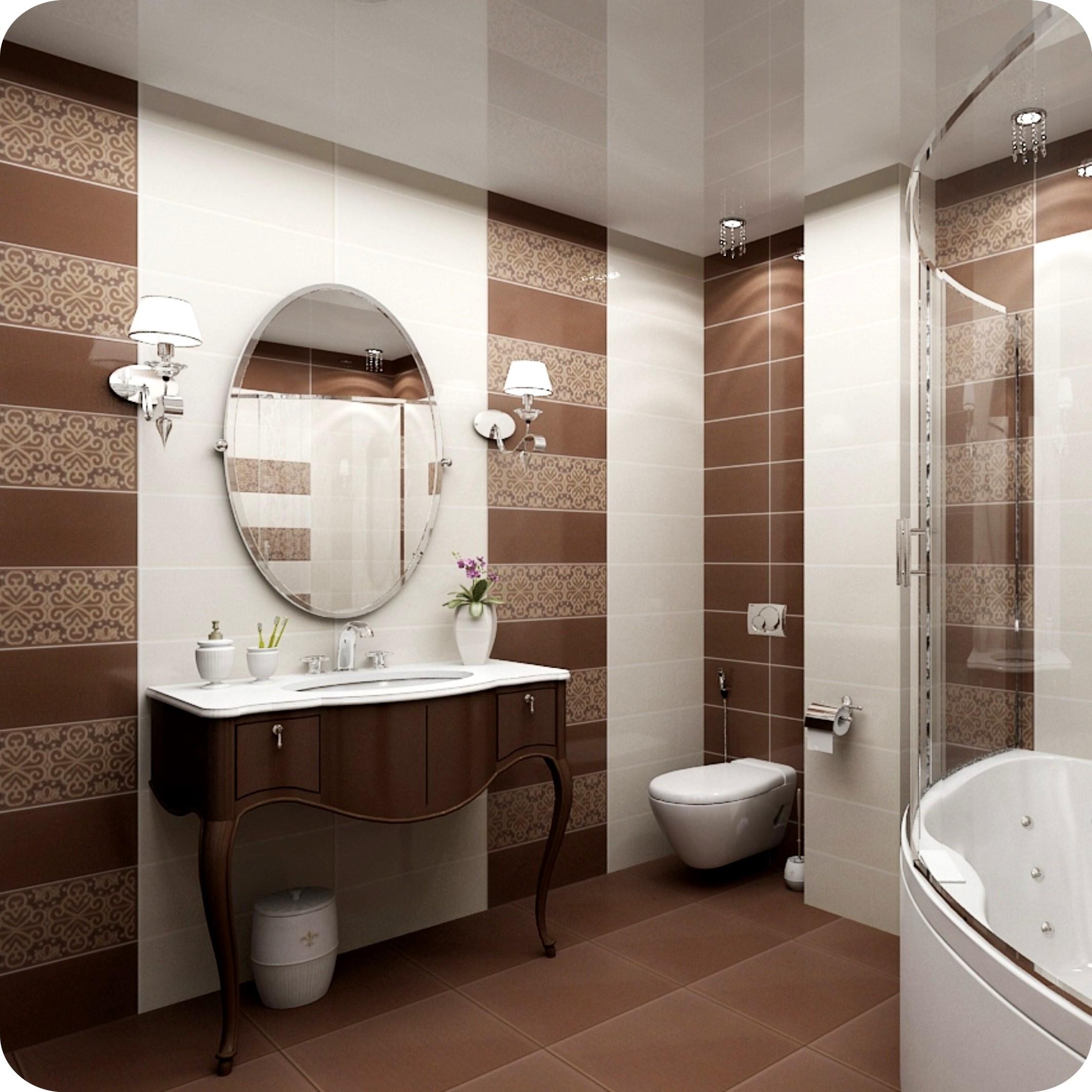Как правильно выбрать потолок для ванной комнаты с отделкой кафельной плиткой