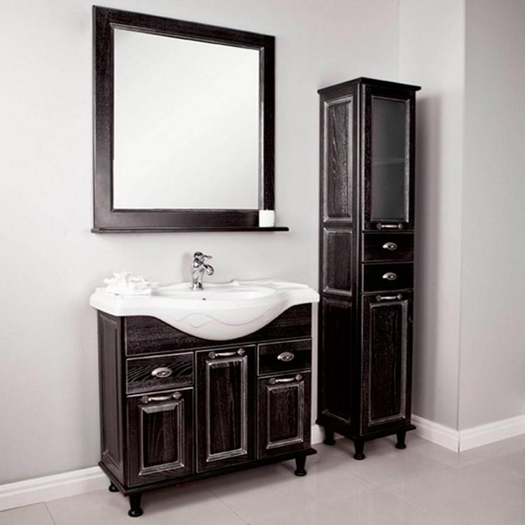 Коллекция темной мебели «Акватон» для практичной и просторной ванной комнаты