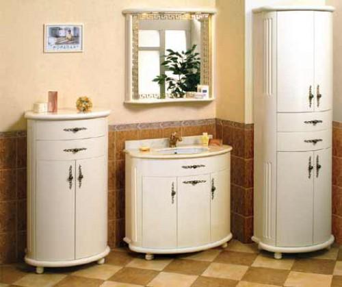 Конструкции мойдодыра для светлой ванной комнаты в современном дизайне